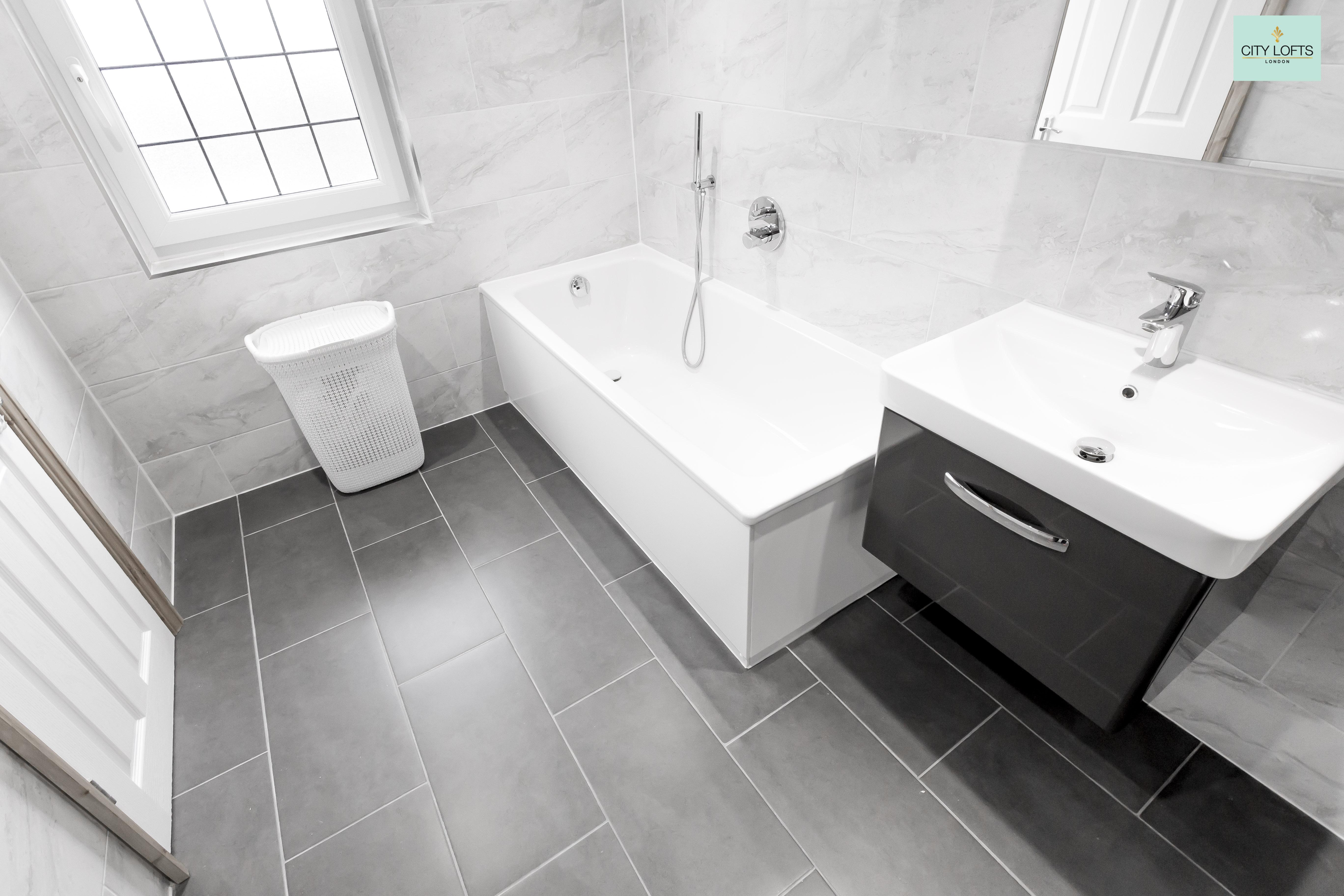 Totteridge loft conversion bathroom with bath