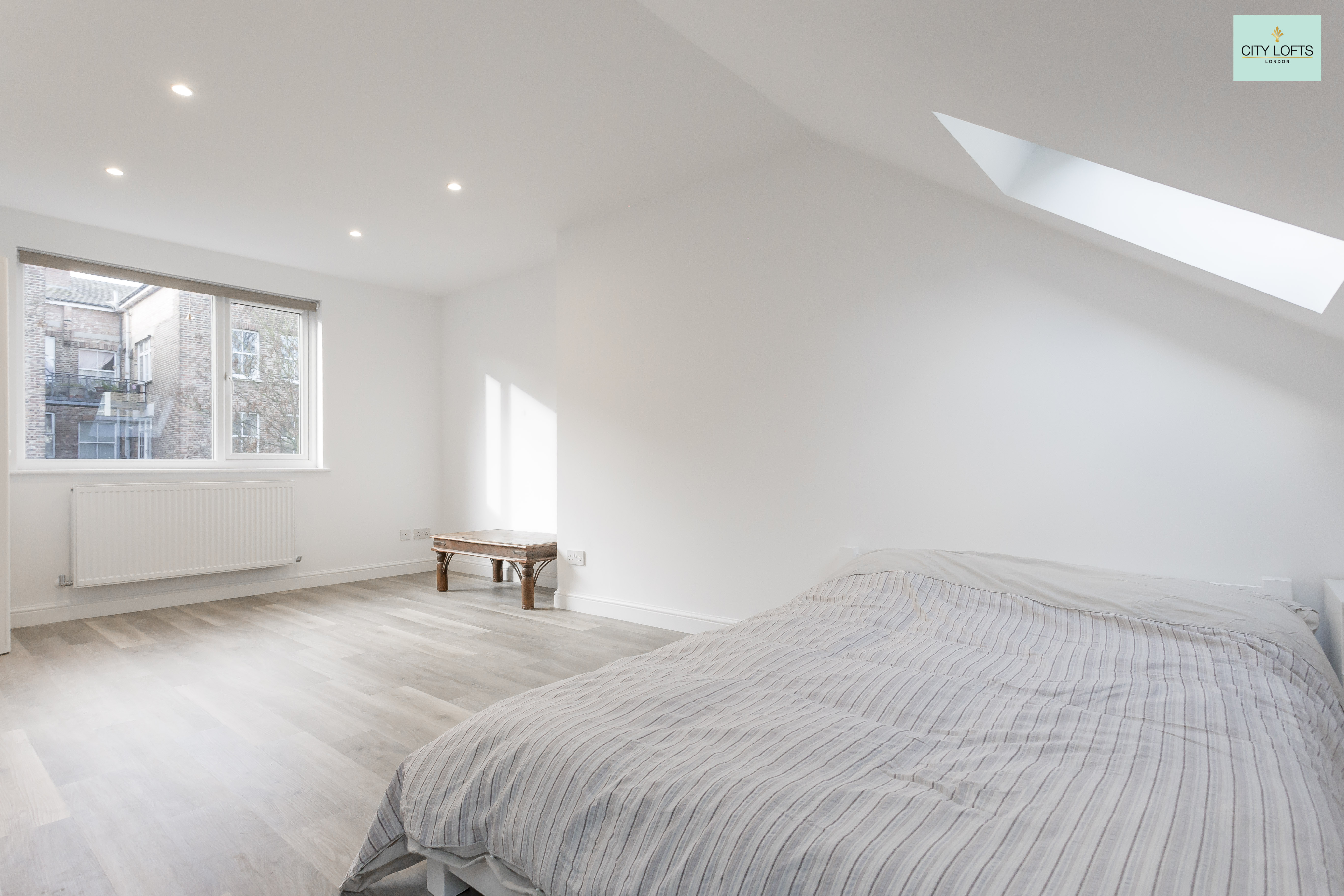 Holloway Loft Conversion White Bedroom