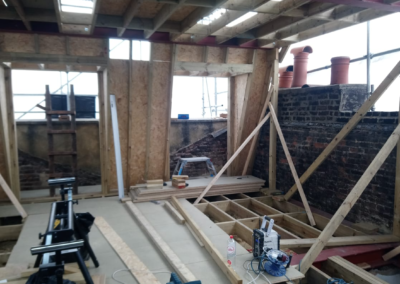 Islington loft conversion works ongoing