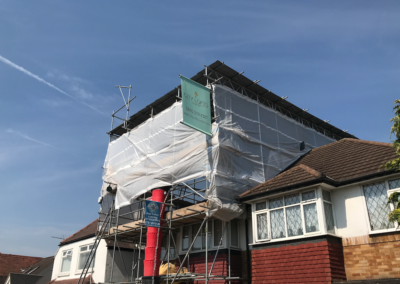 City Loft in Hanworth Scaffolding
