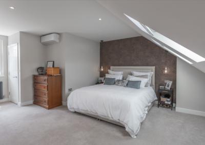 Loft conversion bedroom in West Ealing
