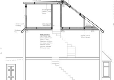 Loft conversion in Hounslow drawings